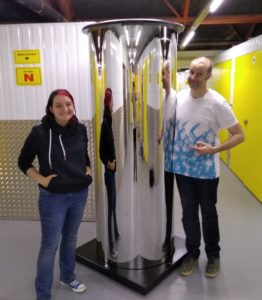 Matt and Katie with the Mirror Pillar